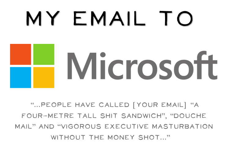 The famous email to Microsoft