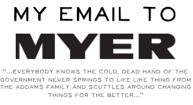My email to Myer tile