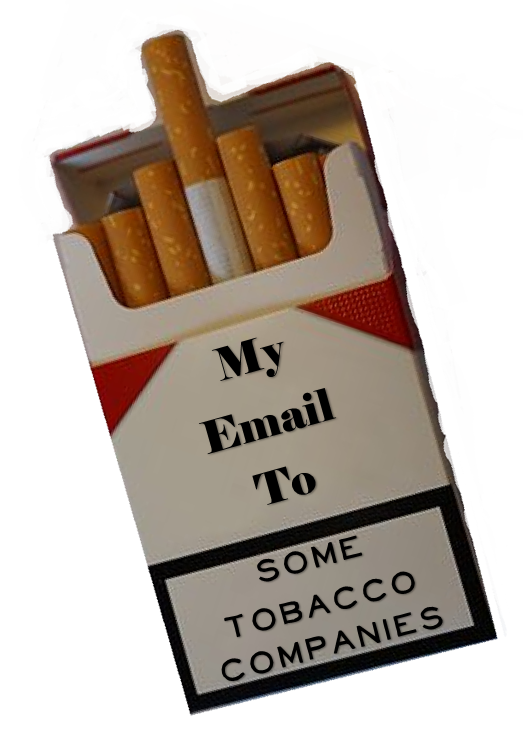 My email to tobacco companies tile