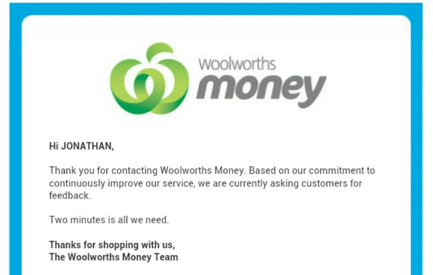 Woolworths survey