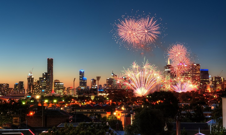 New Year fireworks, Melbourne 2014