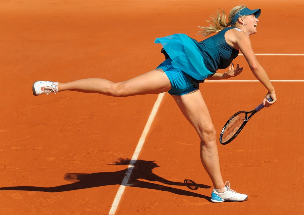 """Maria Sharapova at 2009 Roland Garros, Paris, France"" by Misty, Sydney, Australia - Maria Sharapova and her shadow edited from en:File:Sharapova Roland Garros 2009 3.jpg. Licensed under CC BY-SA 3.0 via Wikimedia Commons - http://commons.wikimedia.org/wiki/File:Maria_Sharapova_at_2009_Roland_Garros,_Paris,_France.jpg#mediaviewer/File:Maria_Sharapova_at_2009_Roland_Garros,_Paris,_France.jpg"