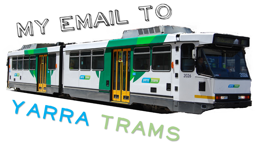 Email to Yarra Trams tile