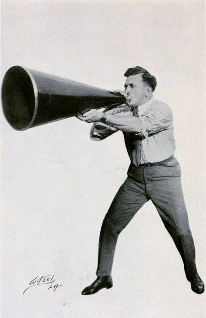 Thought leaders always use megaphones