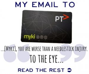 My email to Myki
